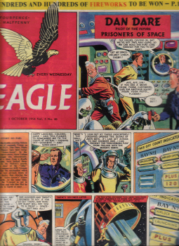 Vol.5 No.40 ORIGINAL EAGLE COMIC 1 OCT 1954 DAN DARE VINTAGE BOYS PUBLICATION FOR SALE CLASSIC IMAGE