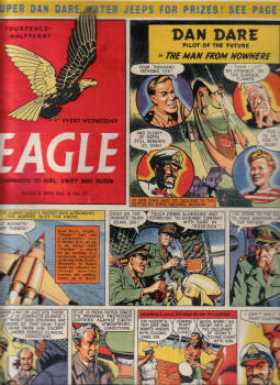 Vol.6 No.27 ORIGINAL EAGLE COMIC 8 JULY 1955 DAN DARE VINTAGE BOYS PUBLICATION FOR SALE CLASSIC IMAG