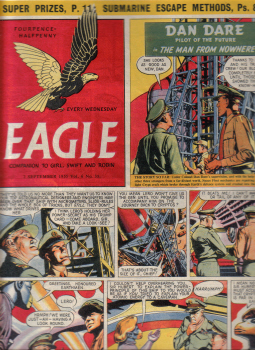 Vol.6 No.35 ORIGINAL EAGLE COMIC 2 SEP 1955 DAN DARE VINTAGE BOYS PUBLICATION FOR SALE CLASSIC IMAGE