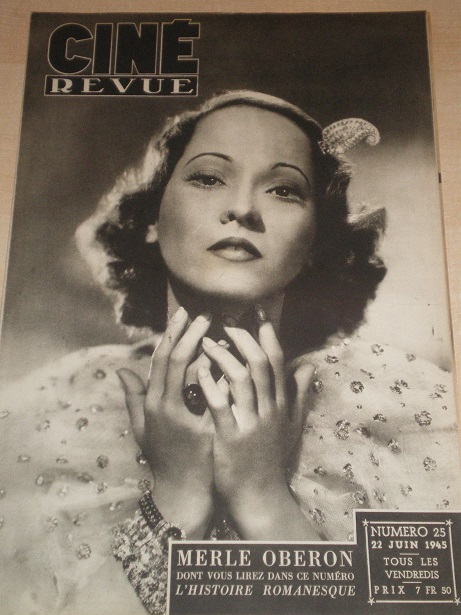 CINE REVUE magazine, 22 June 1945 issue for sale. MERLE OBERON. Original Belgian, French Language FI
