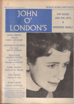 JOHN O LONDONS MAG 4 MAY 1961 PEGGY ASHCROFT MURDOCK VINTAGE PUBLICATION FOR SALE