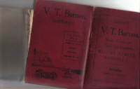 ORIGINAL ROAD MAP ENGLAND V.T.BARNES BARNSLEY MOTOR ENGINEER
