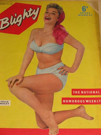 BLIGHTY magazine, December 21 1957 issue for sale. Estelle Langley. PIN-UPS, CARTOONS, STORIES publi