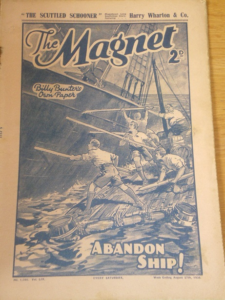 THE MAGNET story paper, August 27 1938 issue for sale. BILLY BUNTER, CHARLES HAMILTON, FRANK RICHARD