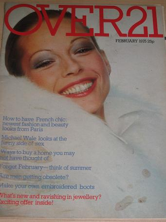 OVER 21 magazine, February 1975 issue for sale. FASHION, FICTION, BEAUTY. Birthday gifts from Tilley