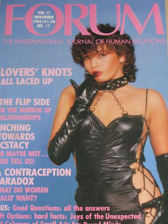FORUM magazine, November 1984 issue for sale. ADULT, SEXUAL RELATIONS publication. Classic images of