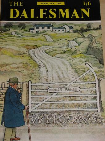 THE DALESMAN magazine, February 1969 issue for sale. IONICUS. Vintage YORKSHIRE DALES publication. C