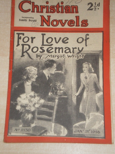 CHRISTIAN NOVELS, January 21 1946 issue for sale. MARGOT WRIGHT, 2130. Original British publication