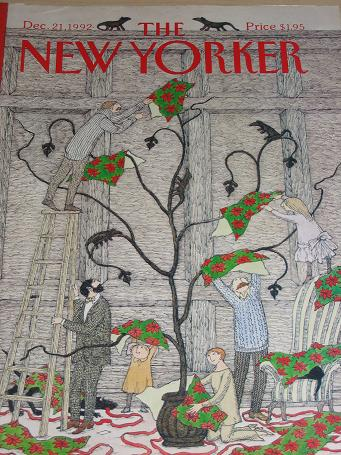 The NEW YORKER magazine, December 21 1992 issue for sale. EDWARD GOREY. Classic images of the twenti