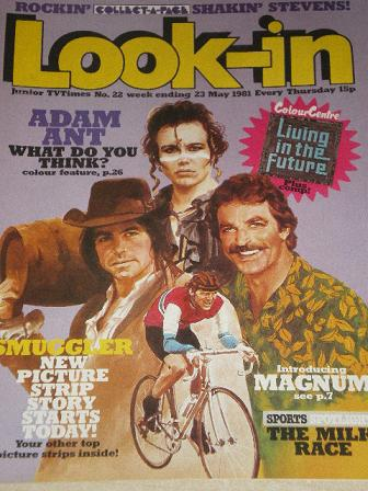LOOK-IN magazine, 23 May 1981 issue for sale. ADAM ANT. Original gifts from Tilleys, Chesterfield, D