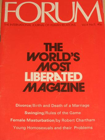 FORUM magazine, Volume 4 Number 11 issue for sale. 1972 ADULT, SEXUAL RELATIONS publication. Classic