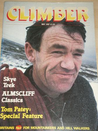 CLIMBER magazine, May 1987 issue for sale. Original British publication from Tilley, Chesterfield, D