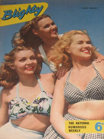 BLIGHTY magazine, July 23 1955 issue for sale. PIN-UPS, CARTOONS, STORIES publication. Classic image