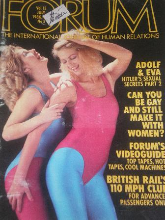 FORUM magazine, July 1980 issue for sale. Original British adult publication from Tilley, Chesterfie