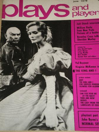 PLAY AND PLAYERS magazine, June 1979 issue for sale. YUL BRYNNER, VIRGINIA MCKENNA. Original British