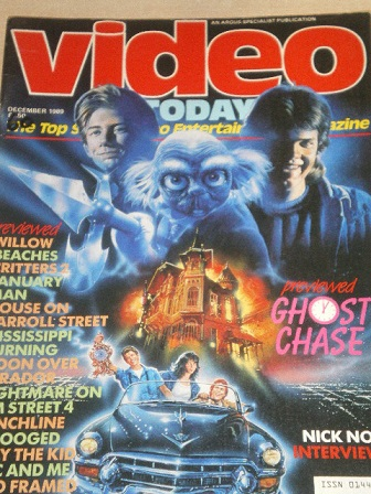 VIDEO TODAY magazine, December 1989 issue for sale. Original British FILM publication from Tilley, C