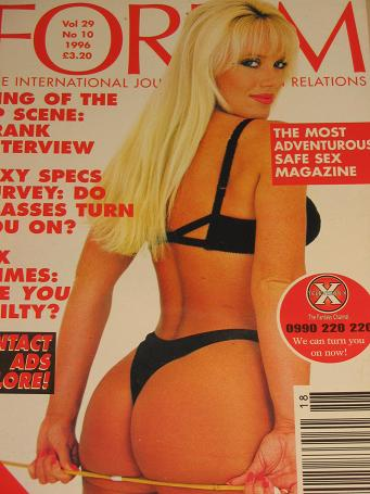 FORUM magazine, Volume 29 Number 10 issue for sale. 1996 ADULT, SEXUAL RELATIONS publication. Classi