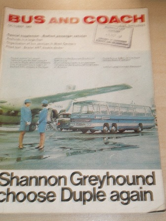 BUS AND COACH magazine, October 1969 issue for sale. Original British publication from Tilley, Chest