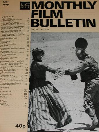 MONTHLY FILM BULLETIN, May 1979 issue for sale. Original BRITISH FILM INSTITUTE publication from Til
