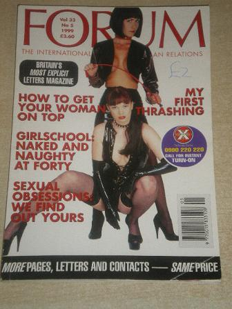 FORUM magazine, Volume 33 Number 5 1999 issue for sale. Original British adult publication from Till