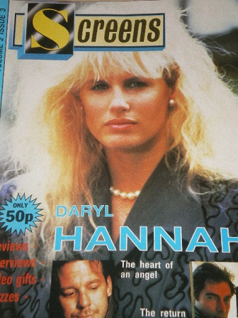 SCREENS magazine, Volume 2 Number 3 issue for sale. DARYL HANNAH. Original British FILM publication
