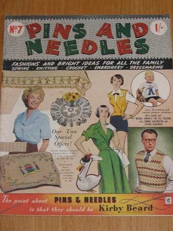 PINS AND NEEDLES magazine No. 7 issue 1951. Vintage womens needlework publication for sale. Classic