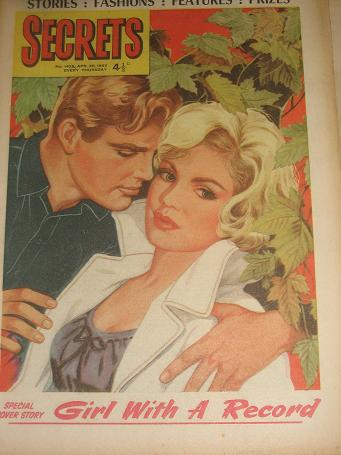 SECRETS magazine, April 20 1963 issue for sale. ROMANTIC FICTION. Birthday gifts from Tilleys, Chest