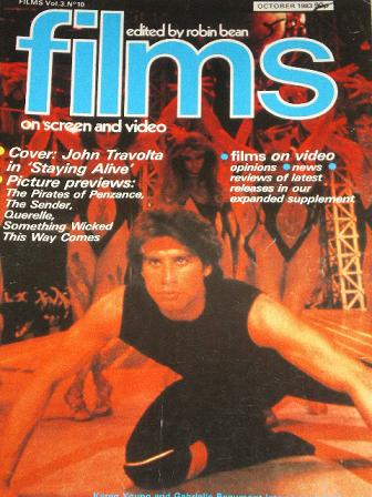 FILMS magazine, October 1983 issue for sale. TRAVOLTA. Original British publication from Tilley, Che