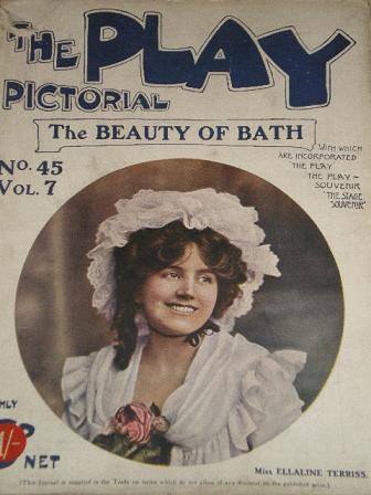 THE PLAY PICTORIAL magazine, Number 45 issue for sale. ELLALINE TERRIS. Original 1906 British THEATR