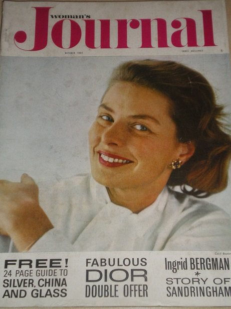 WOMANS JOURNAL magazine, October 1964 issue for sale. INGRID BERGMAN, EILEEN HERBERT JORDAN, MARGARE