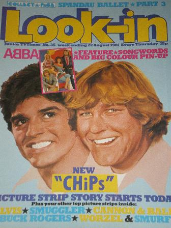 LOOK-IN magazine, 22 August 1981 issue for sale. CHIPS. Original gifts from Tilleys, Chesterfield, D