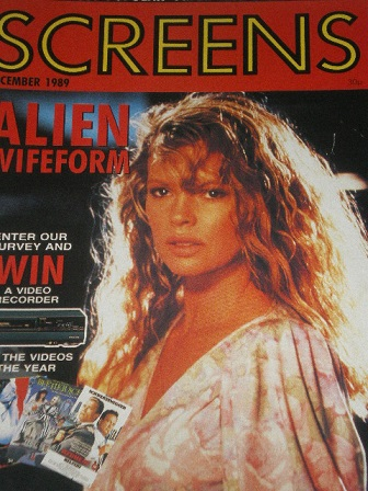 SCREENS magazine, December 1989 issue for sale. ALIEN. Original British FILM publication from Tilley