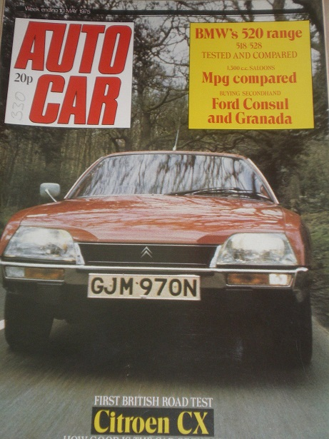 AUTOCAR magazine, 10 May 1975 issue for sale. Original BRITISH MOTORING publication from Tilley, Che