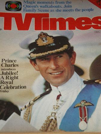TV TIMES magazine, December 10 - 16 1977 issue for sale. 321, PRINCE CHARLES. Original BRITISH INDEP