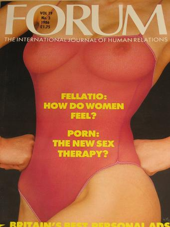 FORUM magazine, Volume 19 Number 3 issue for sale. 1986 ADULT, SEXUAL RELATIONS publication. Classic