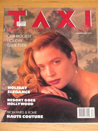 TAXI magazine December 1988. Vintage womens, fashion, style publication for sale. Classic images of