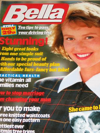 BELLA magazine, 26 November 1988 issue for sale. Original gifts from Tilleys, Chesterfield, Derbyshi