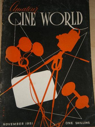 Amateur CINE WORLD magazine, November 1951 issue for sale. Original British publication from Tilley,