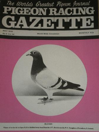 PIGEON RACING GAZETTE, May 1978 issue for sale. Original publication from Tilleys, Chesterfield, Der