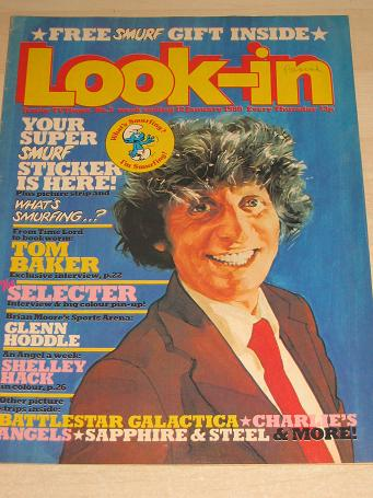 Look-in magazine 12 January 1980. TOM BAKER, SMURFS, CHARLIES ANGELS. Vintage publication for sale.