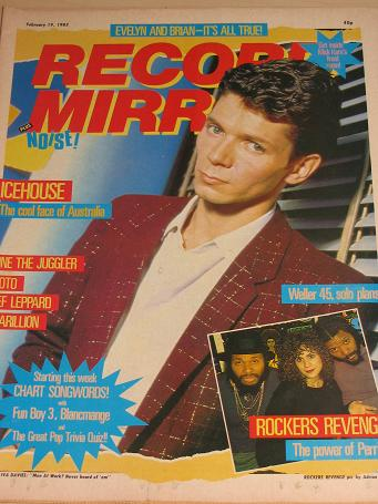 RECORD MIRROR magazine February 19 1983. IVA DAVIES, ICEHOUSE. Vintage BRITISH TEEN, POP MUSIC publi