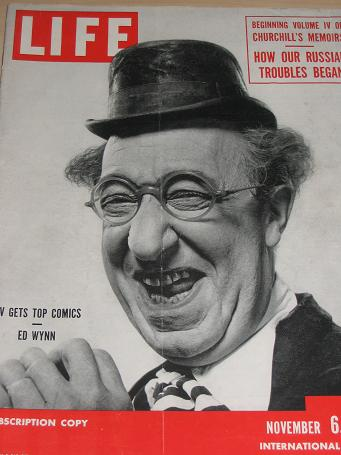 Ed Wynn LIFE magazine Nov. 6 1950. CHURCHILL, SHAW. Vintage NEWS publication for sale. Classic image