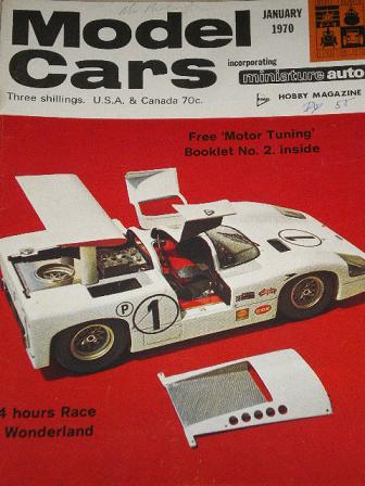 MODEL CARS magazine, January 1970 issue for sale. RIKO CATALOGUE 1969 - 1970. Original gifts from Ti