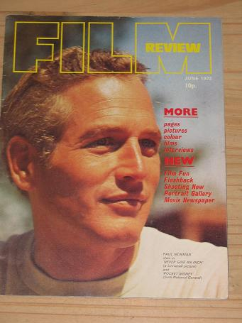 FILM REVIEW MAGAZINE JUNE 1972 BACK ISSUE FOR SALE PAUL NEWMAN VINTAGE MOVIE PUBLICATION PURE NOSTAL