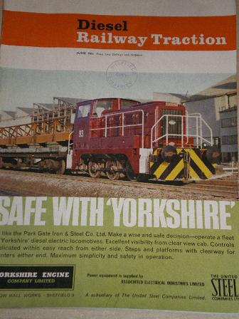 DIESEL RAILWAY TRACTION magazine, June 1963 issue for sale. Original British publication from Tilley