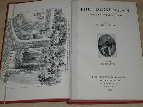 THE DICKENSIAN magazine, Volume 37, 1940, 1941 issues for sale. CHARLES DICKENS. Original, bound lit
