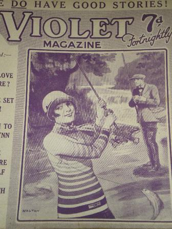 VIOLET magazine, September 28 1928 issue for sale. WALTON, FISHING. Original British PULP STORY PAPE