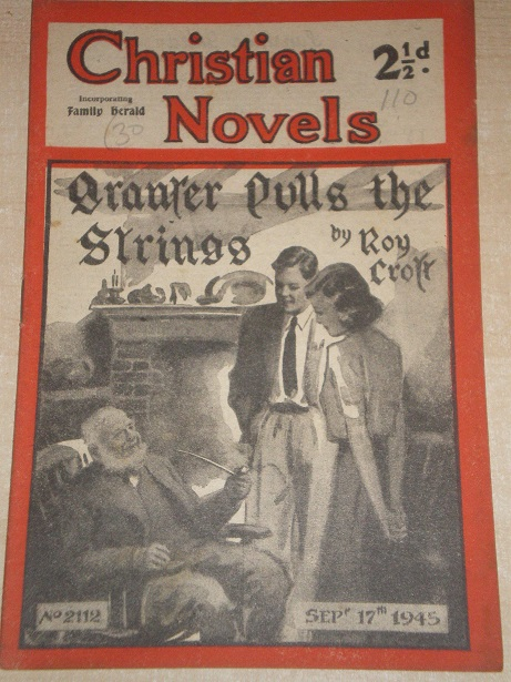 CHRISTIAN NOVELS, September 17 1945 issue for sale. ROY CROFT, 2112. Original British publication fr