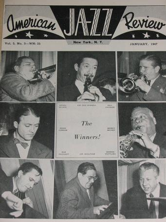 AMERICAN JAZZ REVIEW, January 1947 issue for sale. Scarce publications, birthday, retirement gifts f