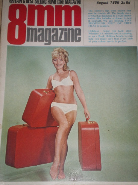 8MM MAGAZINE, August 1966 issue for sale. Original British publication from Tilley, Chesterfield, De